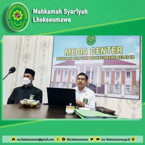 Pimpinan MS Lhokseumawe ikuti Acara Pembinaan dan Purnabakti Hakim Agung Kamar Agama